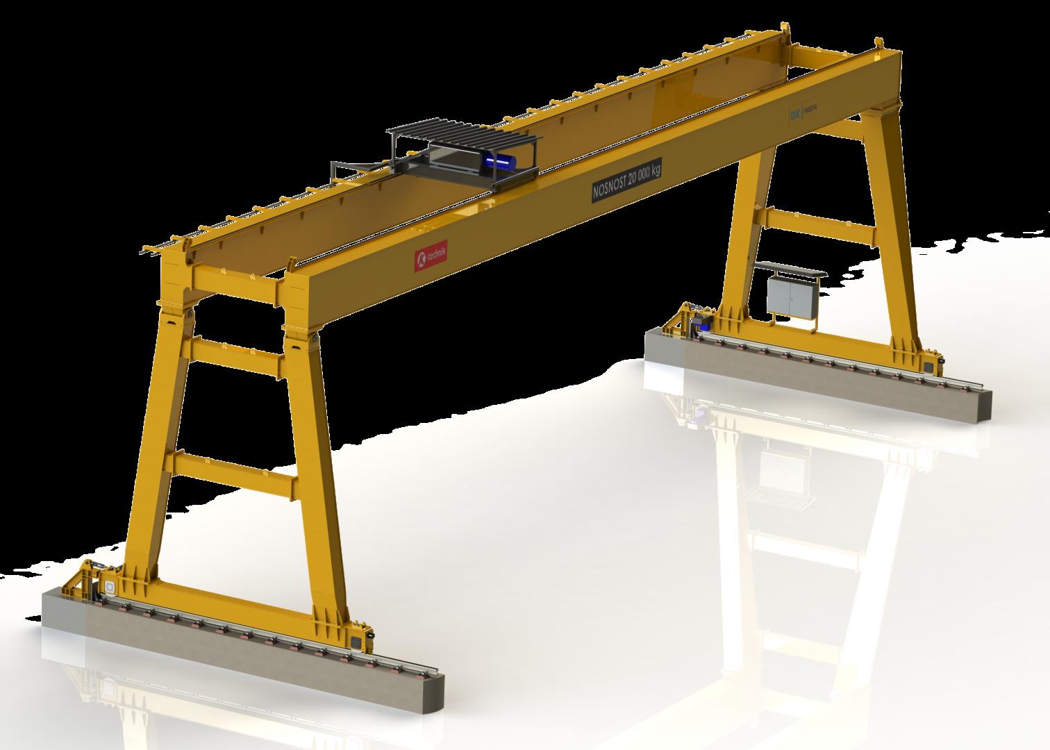 Portálový jeřáb 3D model<br />Portálový jeřáb 3D model